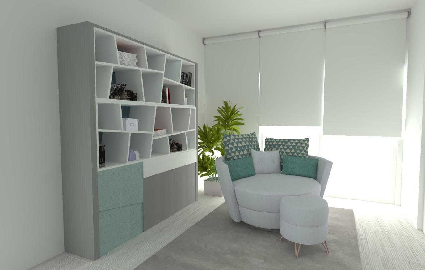 Salon con lectura saracibar sof s deco - Simulador decoracion salon ...